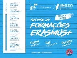 1st cycle of trainings abour Erasmus+ with ESN Portugal and National Agency Erasmus+